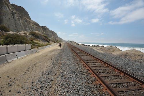 Free stock photo of beach, san clemente, train tracks