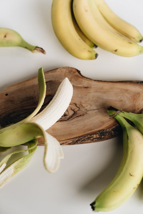 Yellow Banana Fruit on White Table