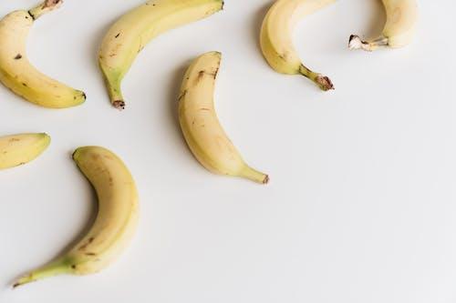 Yellow Banana on White Table