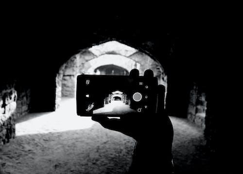 Free stock photo of black, black-and-white, fort, golcondafort