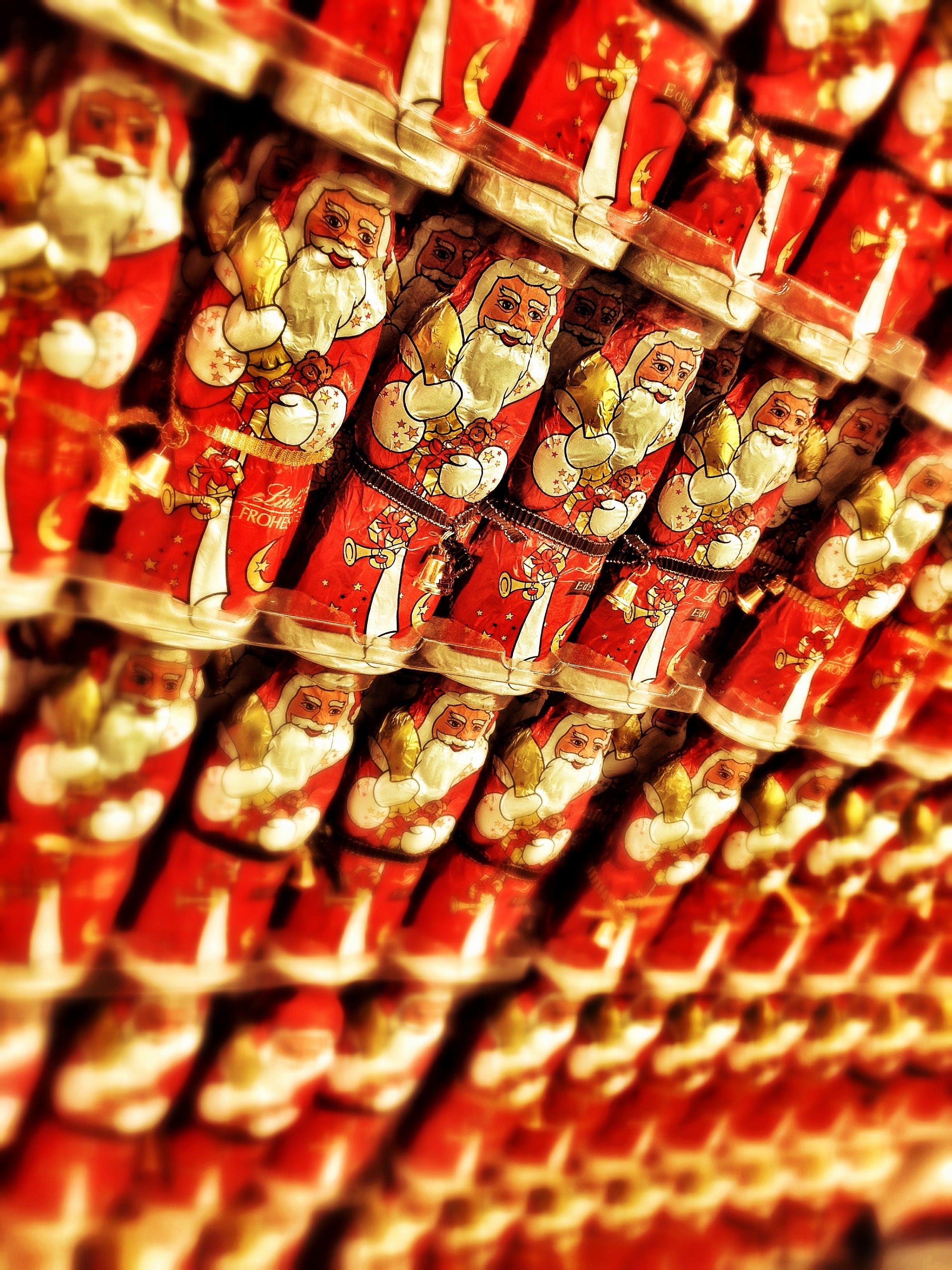 Immagine gratuita di babbo natale, cioccolato babbo natale, natale