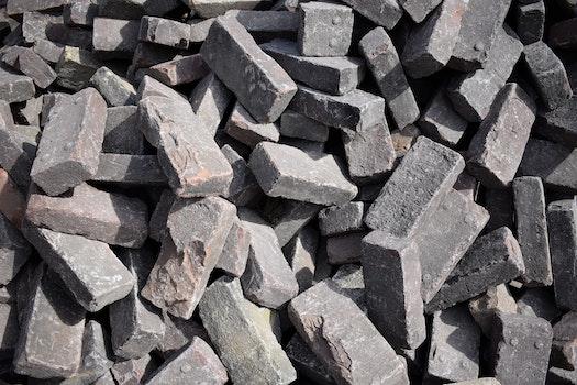 Free stock photo of bricks, grey, rock, stone