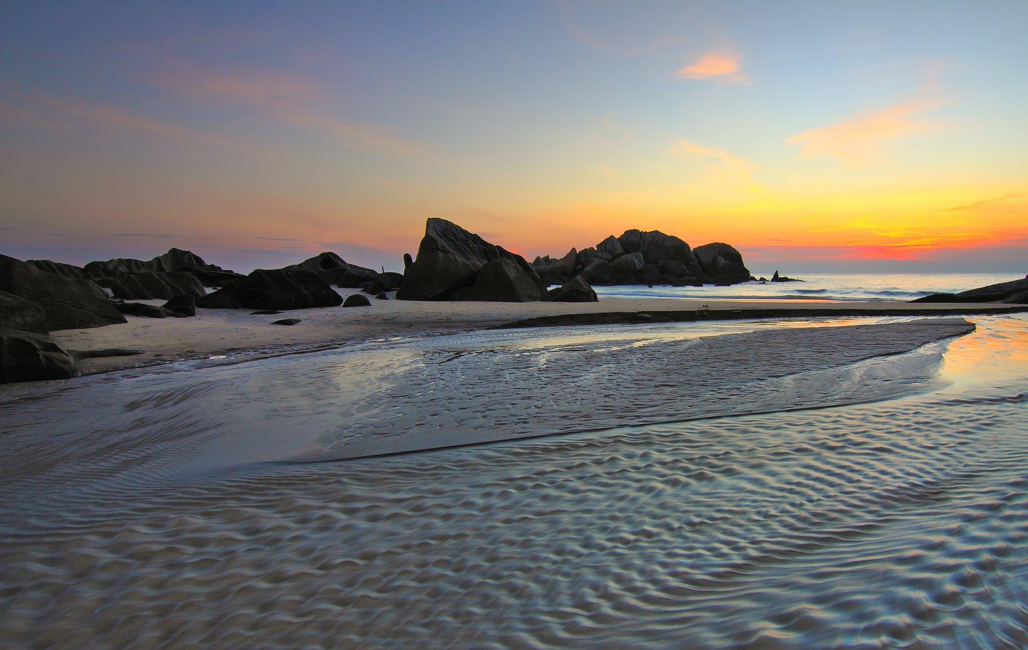 คลังภาพถ่ายฟรี ของ งดงาม, ทราย, ทะเล, ทัศนียภาพ