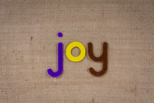 Word Joy In Colorful Cutouts