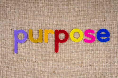 Colorful Cutouts Of The Word Purpose