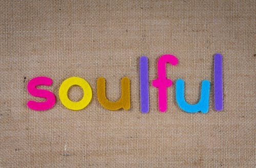 Text Soulful In Colorful Cutouts