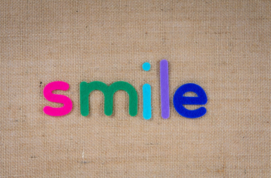 Text Smile In Colorful Cutouts