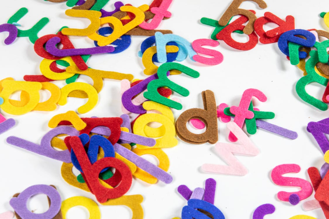 Assorted Colorful Cutouts Of Alphabet