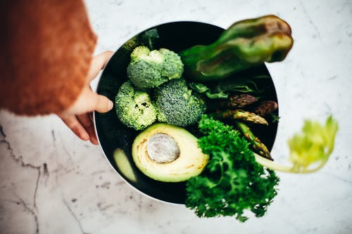 Person Holding A Bowl Of Green Vegetables