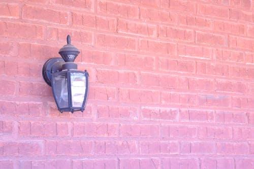 Free stock photo of brick, light, red brick, sconce