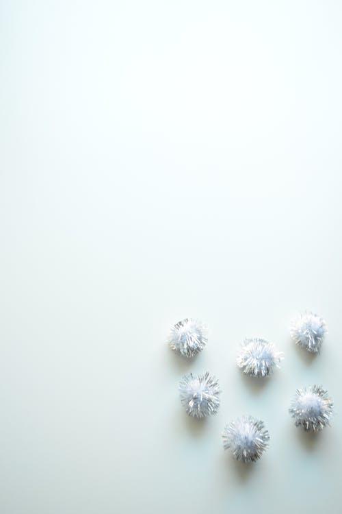 Free stock photo of balls, silver, sparkle, white