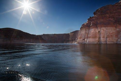 Fotos de stock gratuitas de agua, lago powell, piedra roja, piedra rojiza