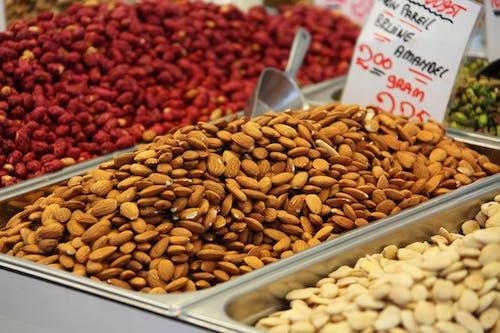 Fotos de stock gratuitas de Almendras, aperitivo, cacahuetes, comida