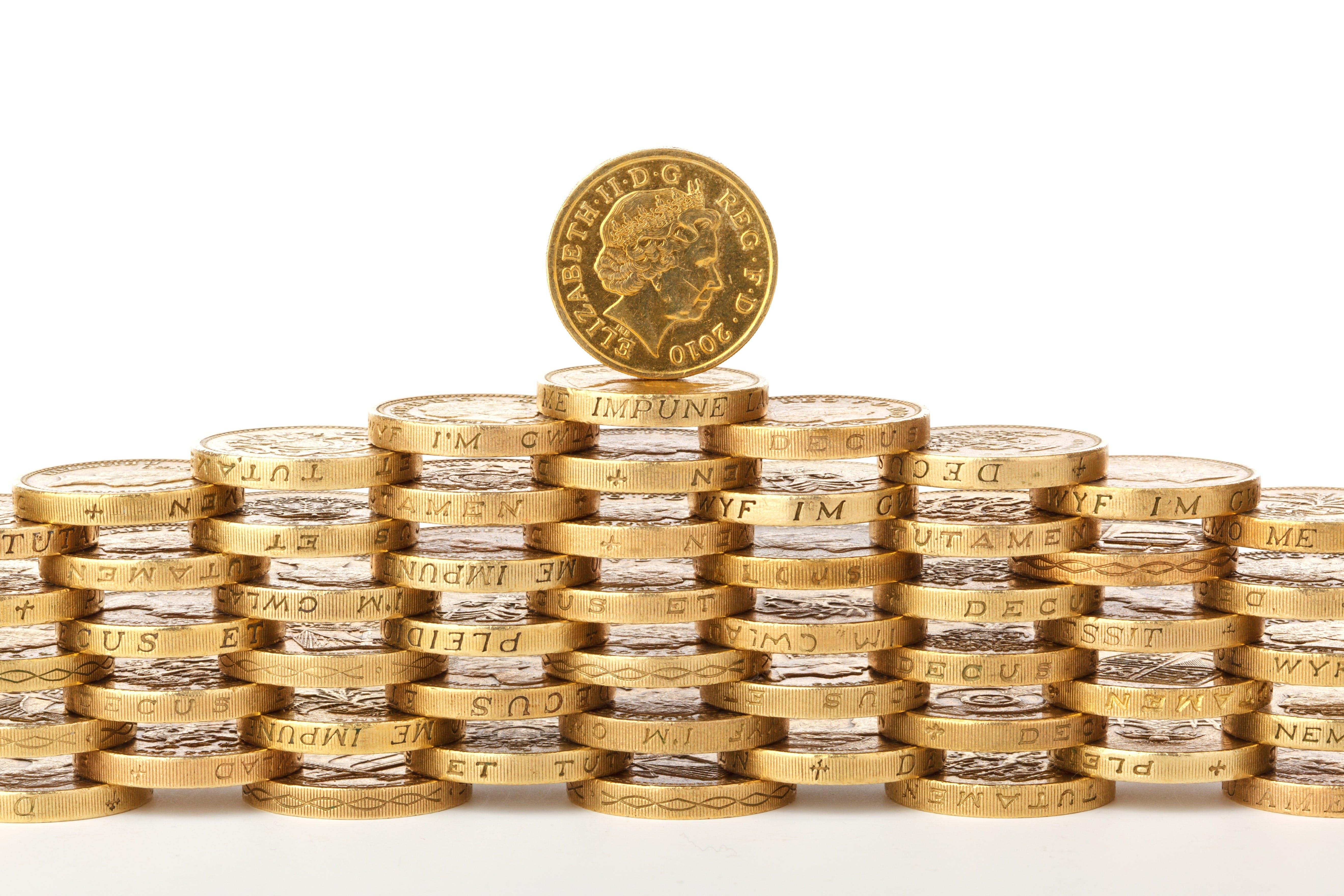 altın, altından, banka, bir pound içeren Ücretsiz stok fotoğraf