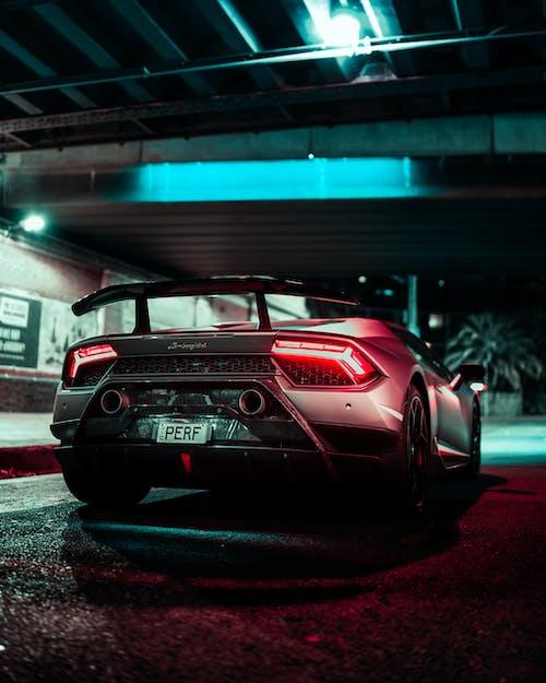 Red Porsche 911 Parked in Parking Lot