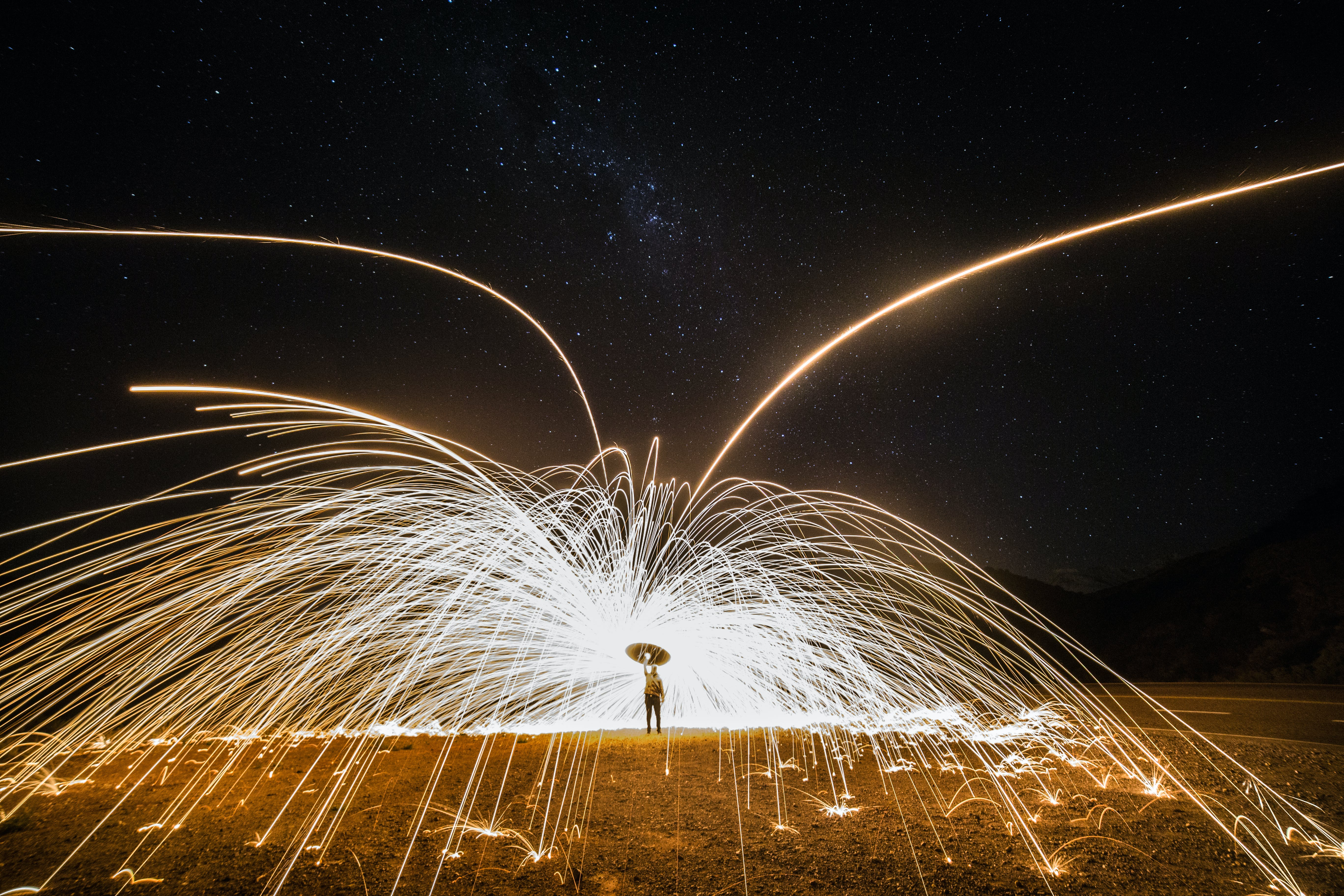 Wool Photography of Person Doing Fire Dancing