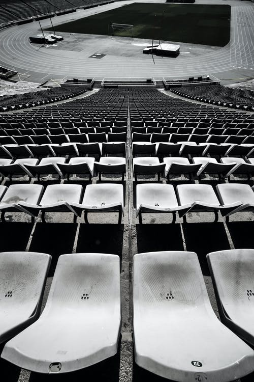 Free stock photo of black and white, olympic stadium, order, pattern