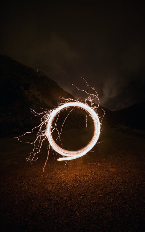Free stock photo of electricity, long exposure, play time, spinning