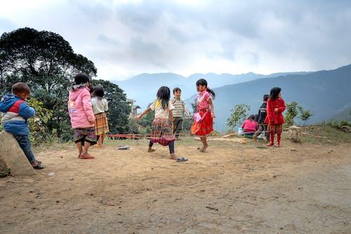 Kids Playing Chinese Garter