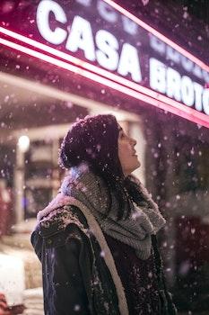 Free stock photo of snow, city, fashion, woman