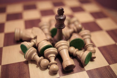 Close-Up Photo Of Wooden Chess Pieces