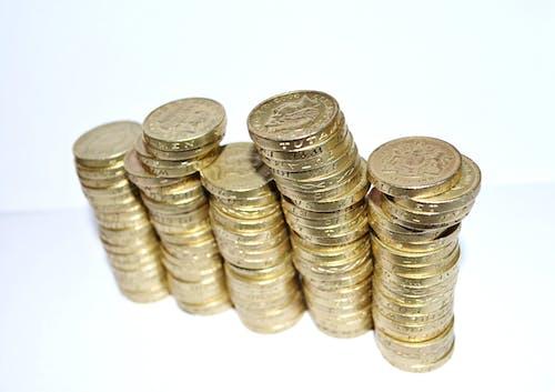คลังภาพถ่ายฟรี ของ กอง, ทอง, พร่ามัว, สกุลเงิน