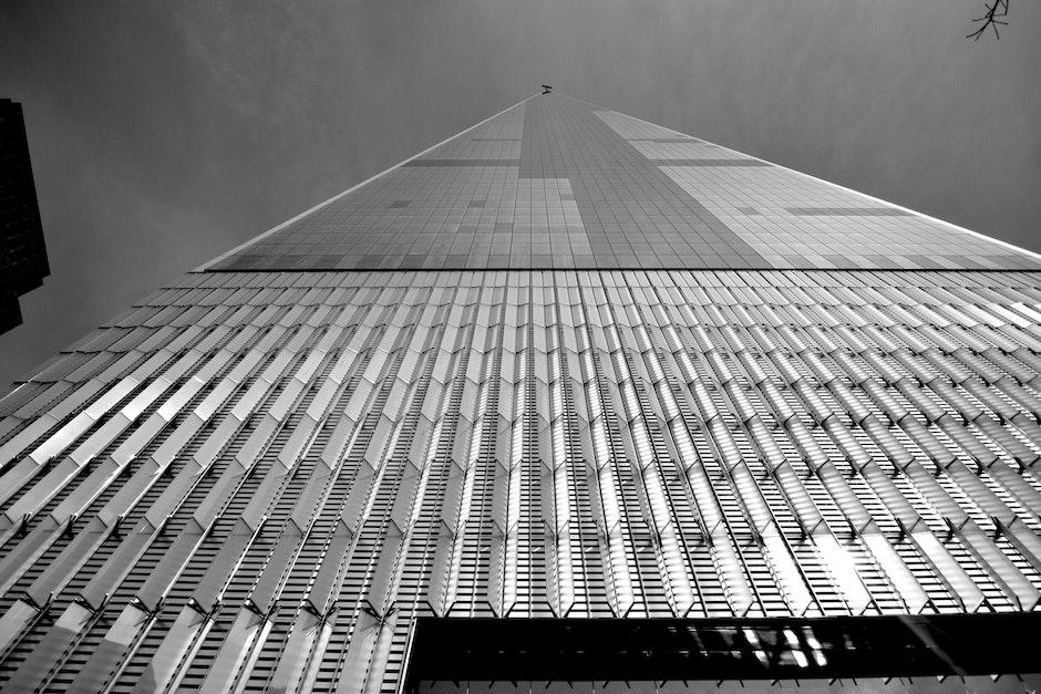 architectural design, black and white, building