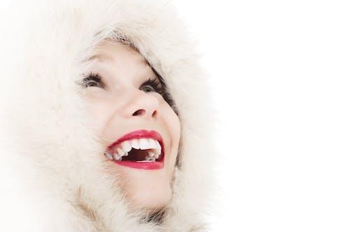 人造毛皮, 冬裝, 向上看, 嘴 的 免費圖庫相片
