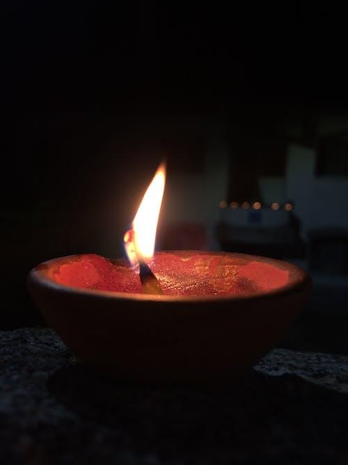 Free stock photo of bokeh, diya, fire lantern