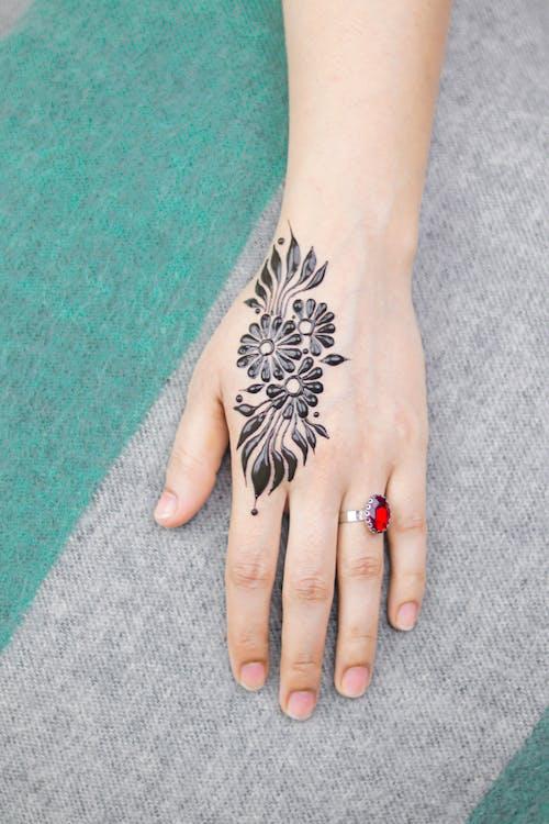 Close-Up Photo Of Hand Tattoo