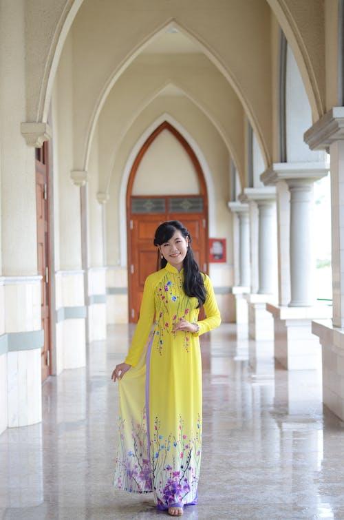 Photo Of Woman Wearing Yellow Dress