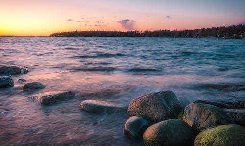 Darmowe zdjęcie z galerii z cichy, ciepły, długa ekspozycja, finlandia