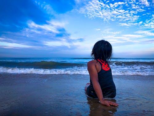 Free stock photo of beach, blue, blue background