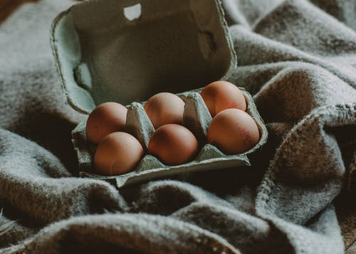 Close-Up Photo Of Egg On Tray