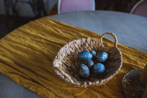 Basket of Blue Eggs