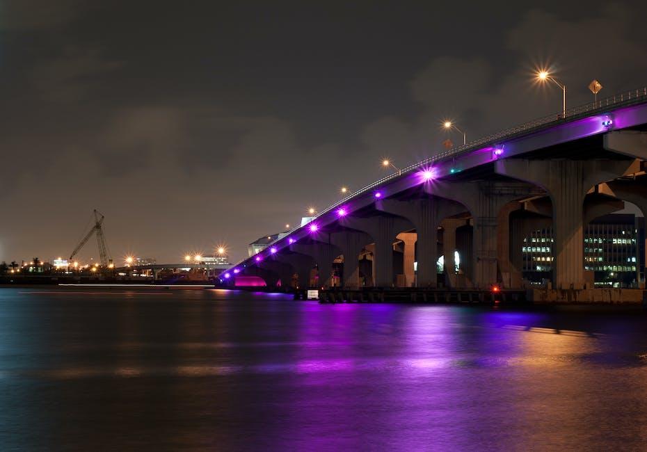 Architecture blur bridge buildings