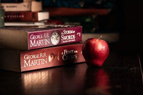 Free stock photo of apple fruit, book, quarantine