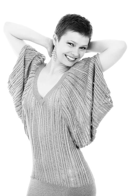 Imagine de stoc gratuită din alb-negru, atrăgător, de sex feminin, drăguț
