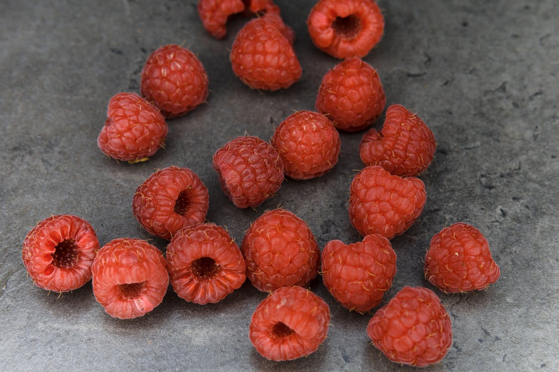 Close-Up Photo Of Raspberries