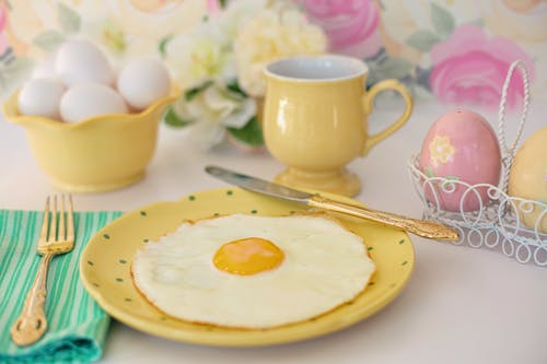 Photo Of Cooked Egg On Plate