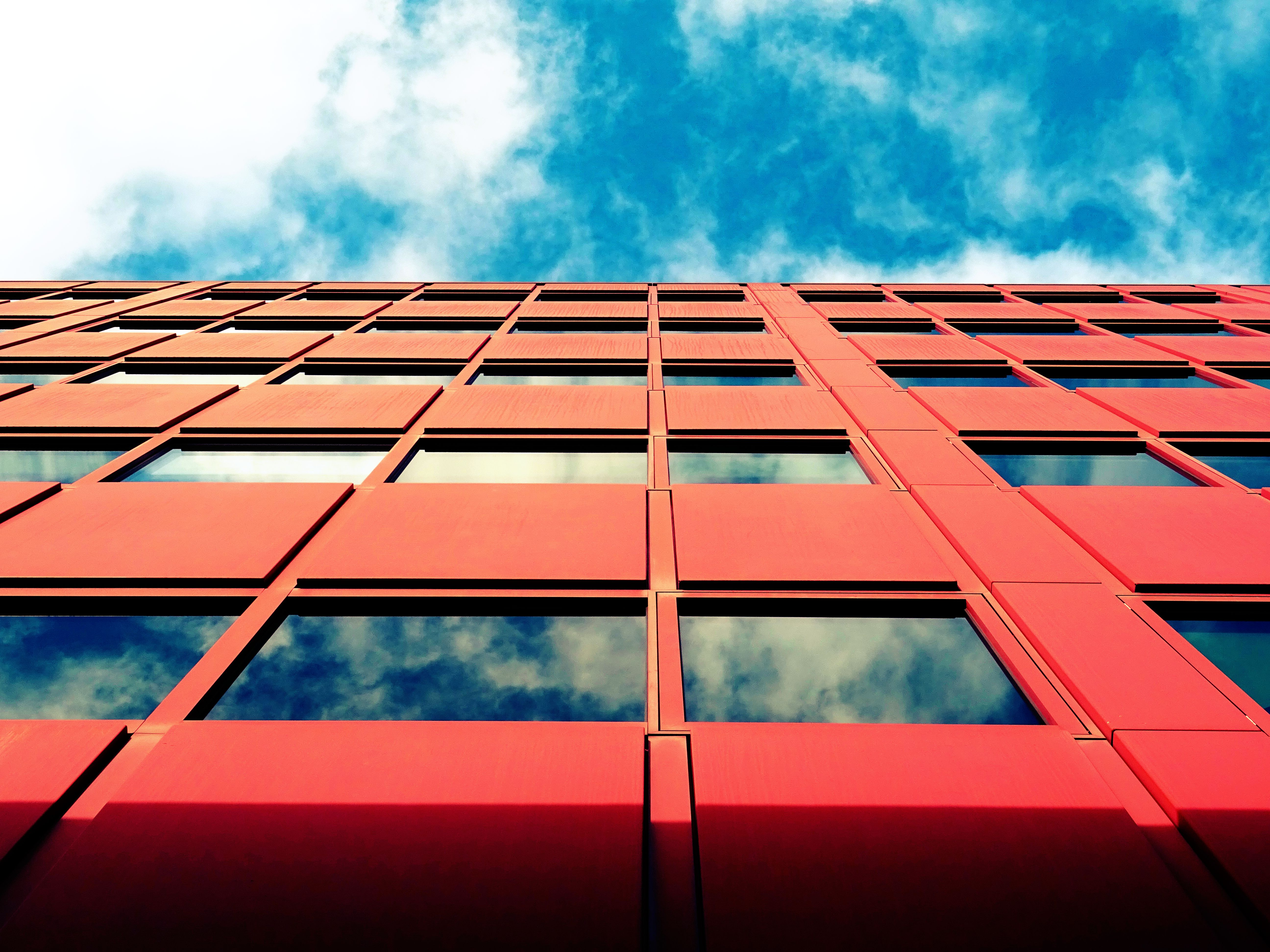 Free stock photo of sky, building, construction, glass