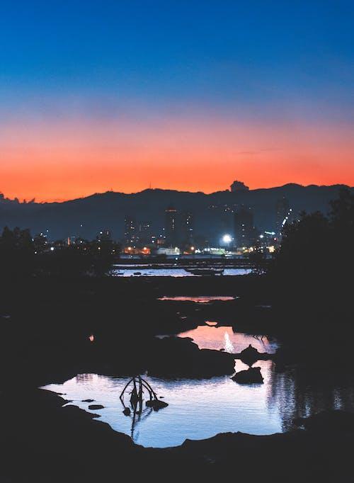 Free stock photo of Beautiful sunset, Cebu, city lights, city night