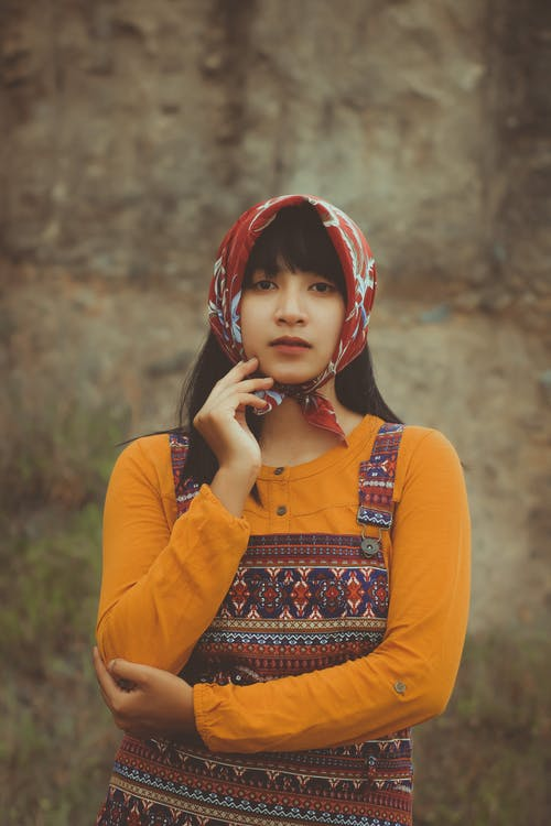 Photo Of Woman Wearing Red Headscarf
