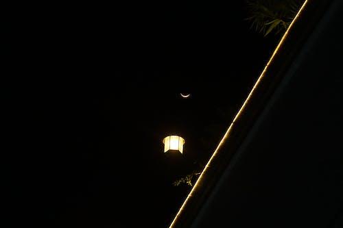 Free stock photo of dark, dark background, lamp