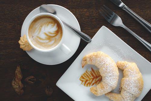 Photo Of Croissant Beside Latte