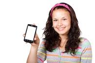 people, woman, iphone