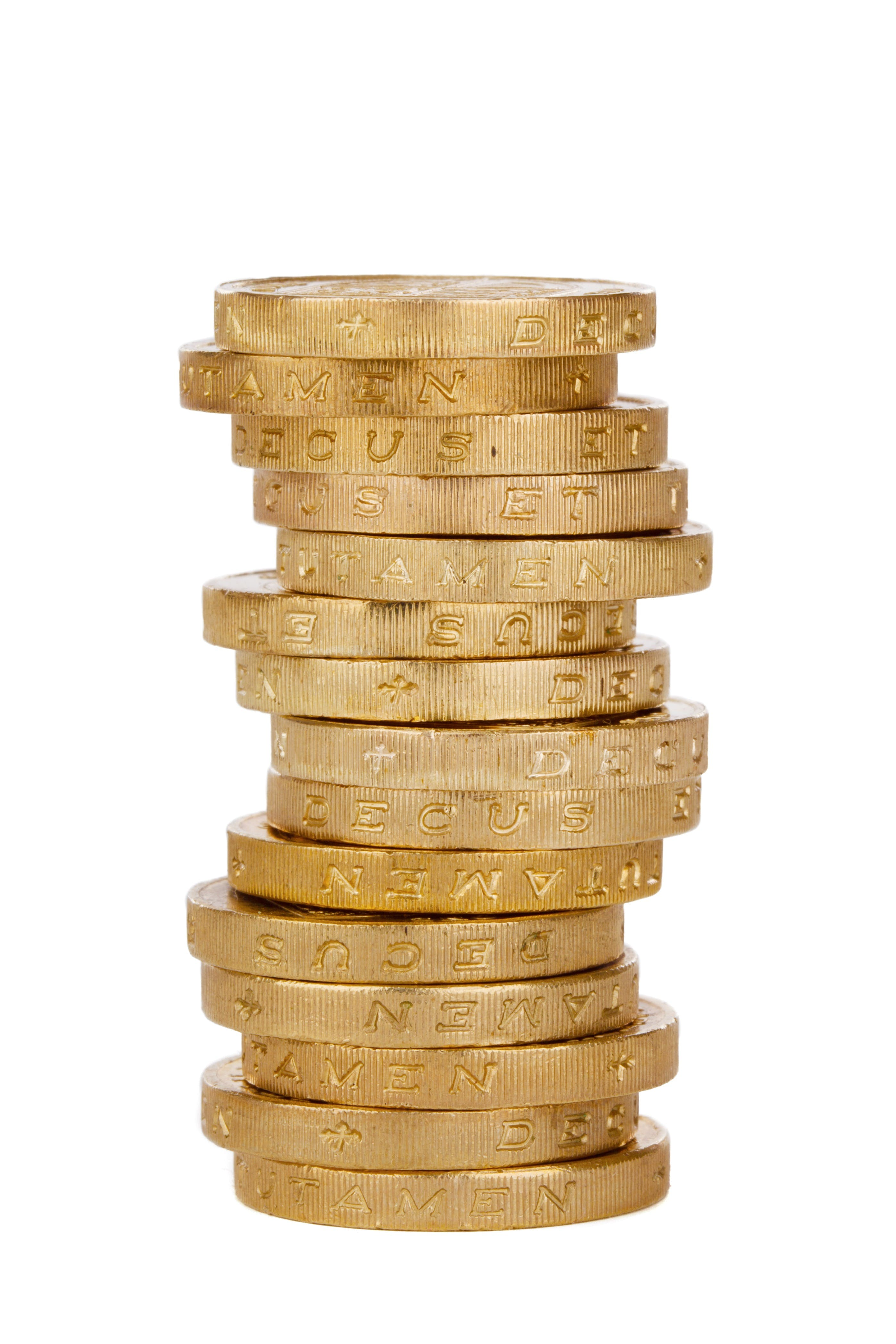 Pile of Gold-colored Coins