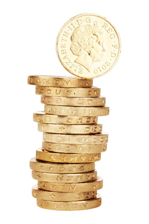 Free stock photo of 1 pound, cash, coin