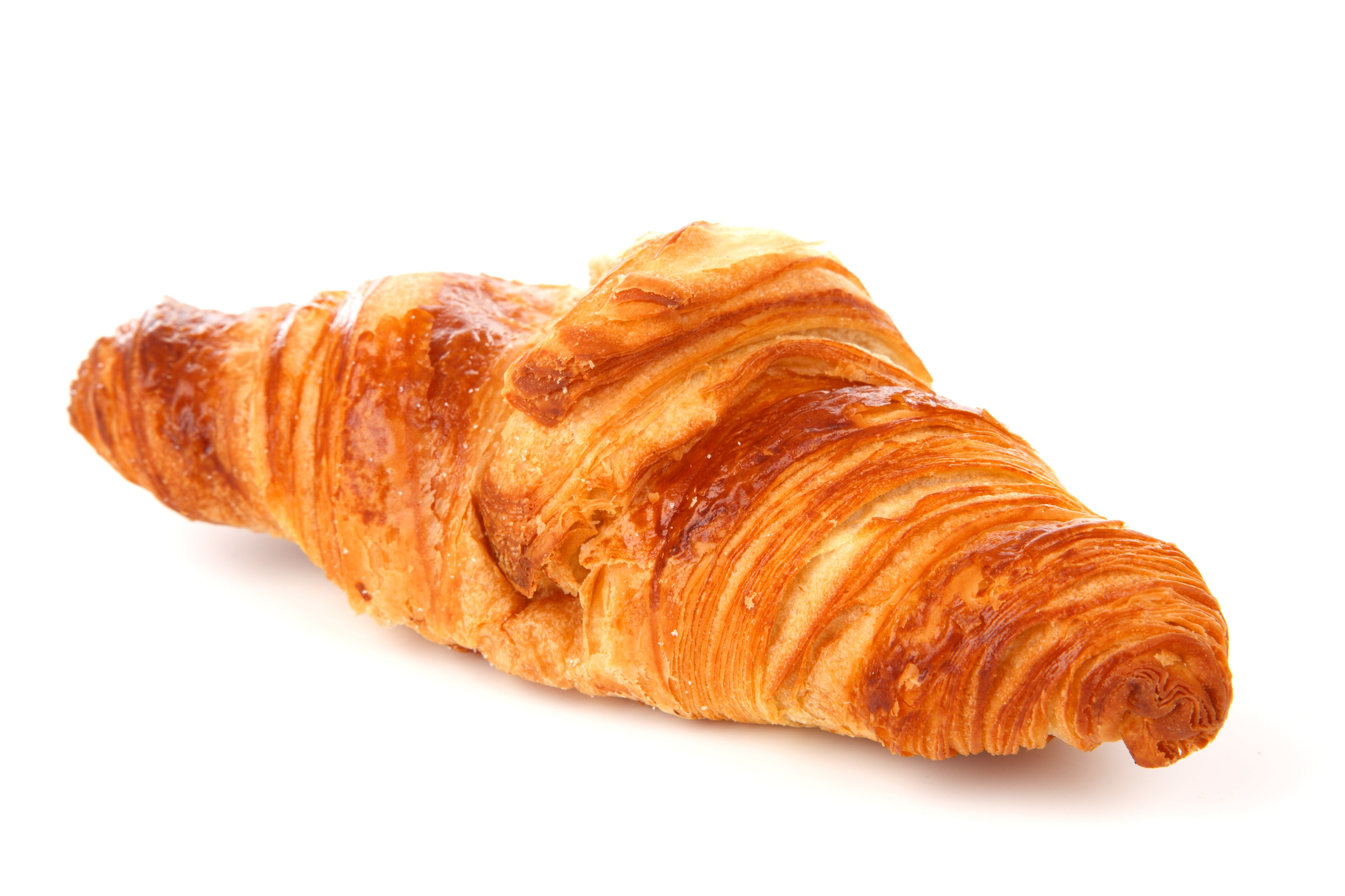 Croissant Bread on White Background