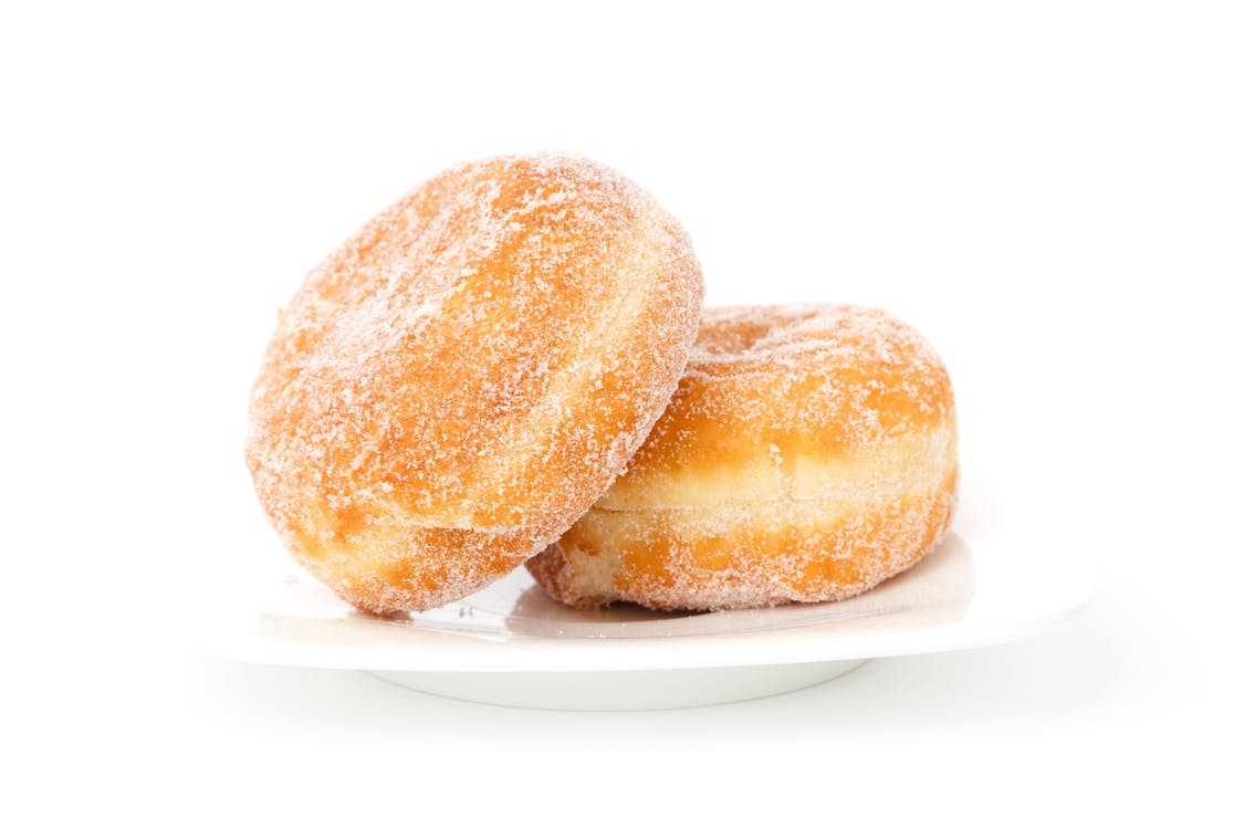 Two Creme Filled Donuts